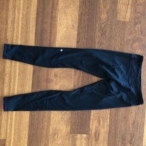 Lululemon Black/Purple Reversible Leggings